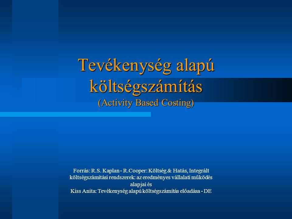 Tevékenység alapú költségszámítás (Activity Based Costing)