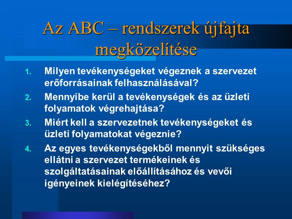 Az ABC – rendszerek újfajta megközelítése