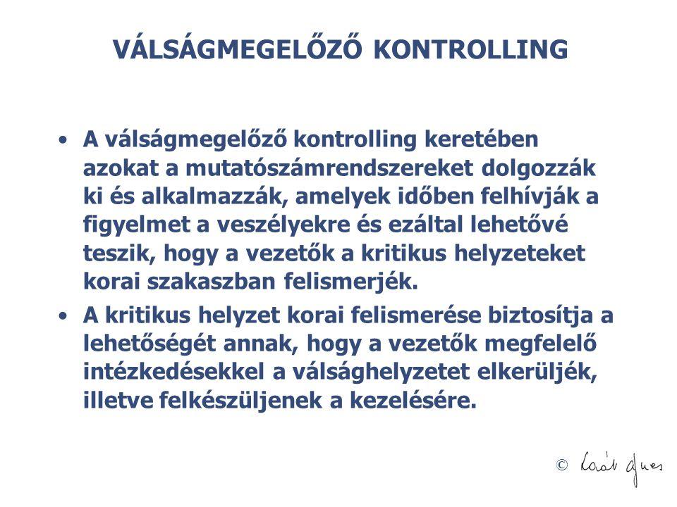 VÁLSÁGMEGELŐZŐ KONTROLLING