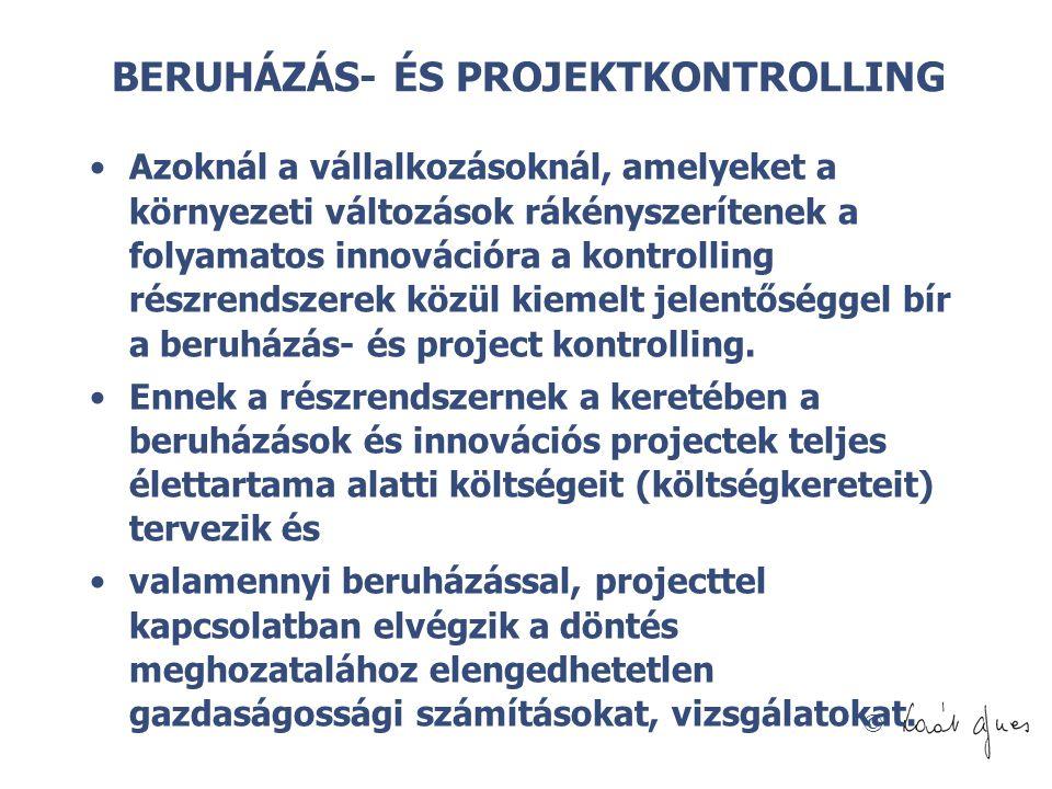 BERUHÁZÁS- ÉS PROJEKTKONTROLLING