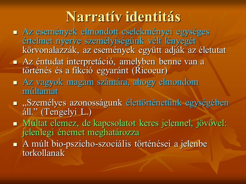 Narratív identitás