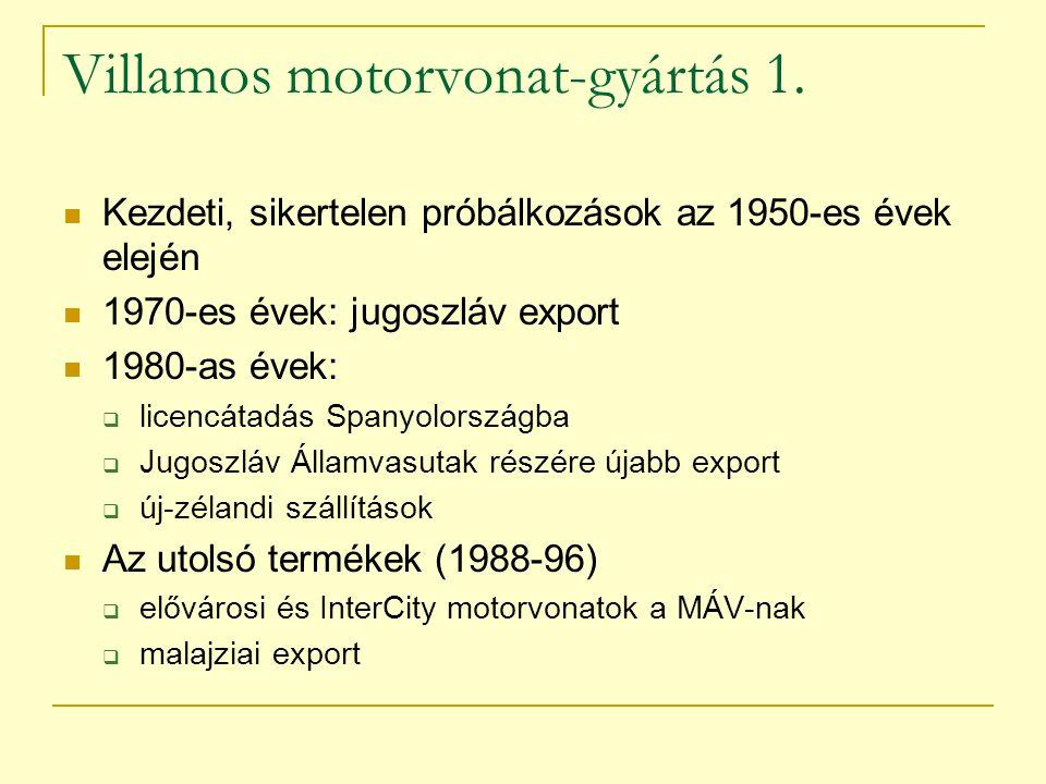 Villamos motorvonat-gyártás 1.