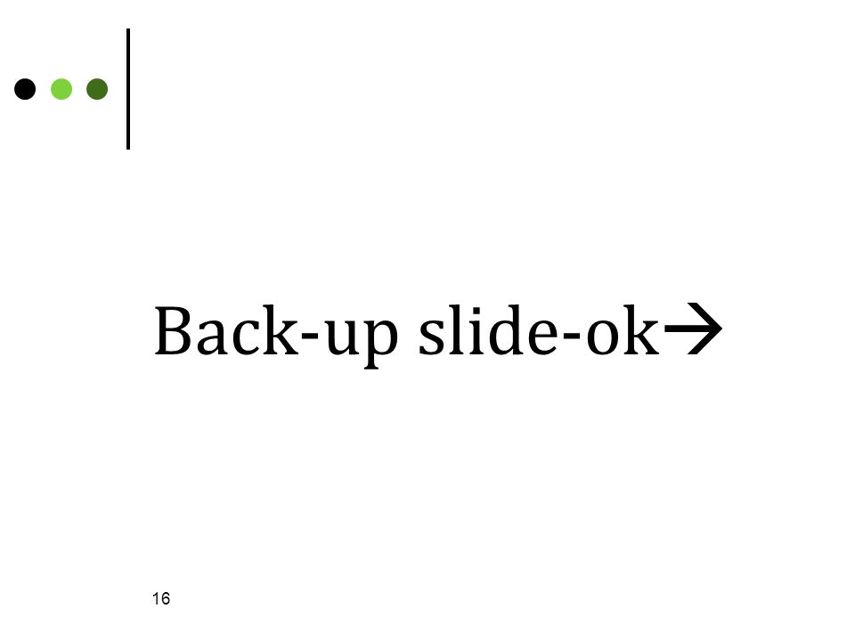 Back-up slide-ok