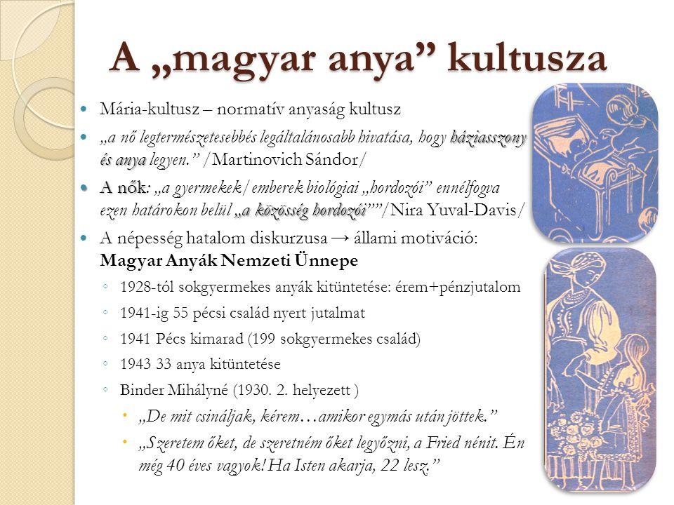 "A ""magyar anya kultusza"