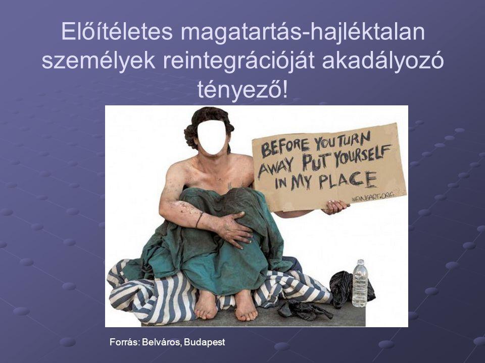 Előítéletes magatartás-hajléktalan személyek reintegrációját akadályozó tényező!