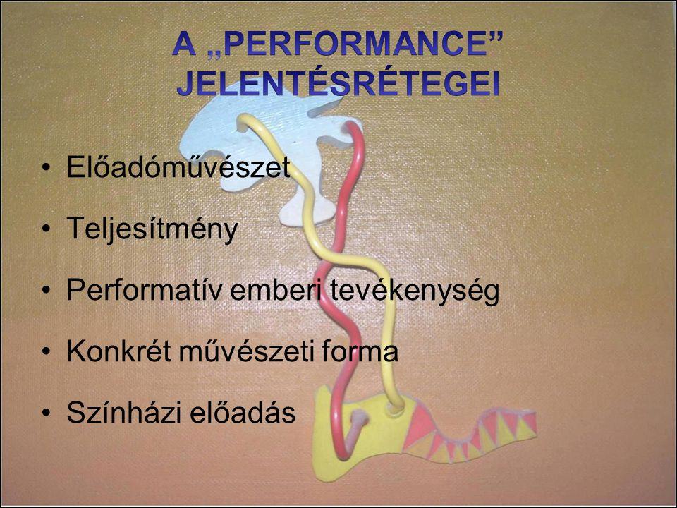 """A """"PERFORMANCE JELENTÉSRÉTEGEI"""