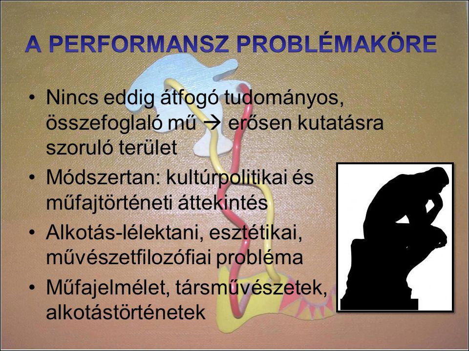 A PERFORMANSZ PROBLÉMAKÖRE