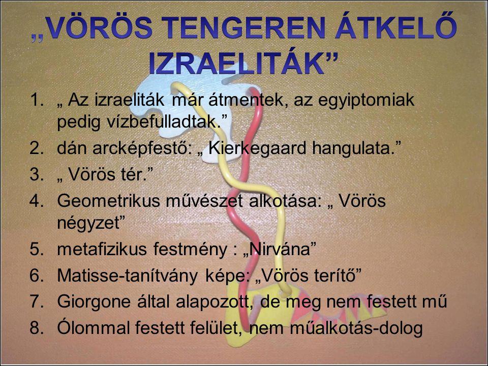 """""""VÖRÖS TENGEREN ÁTKELŐ IZRAELITÁK"""