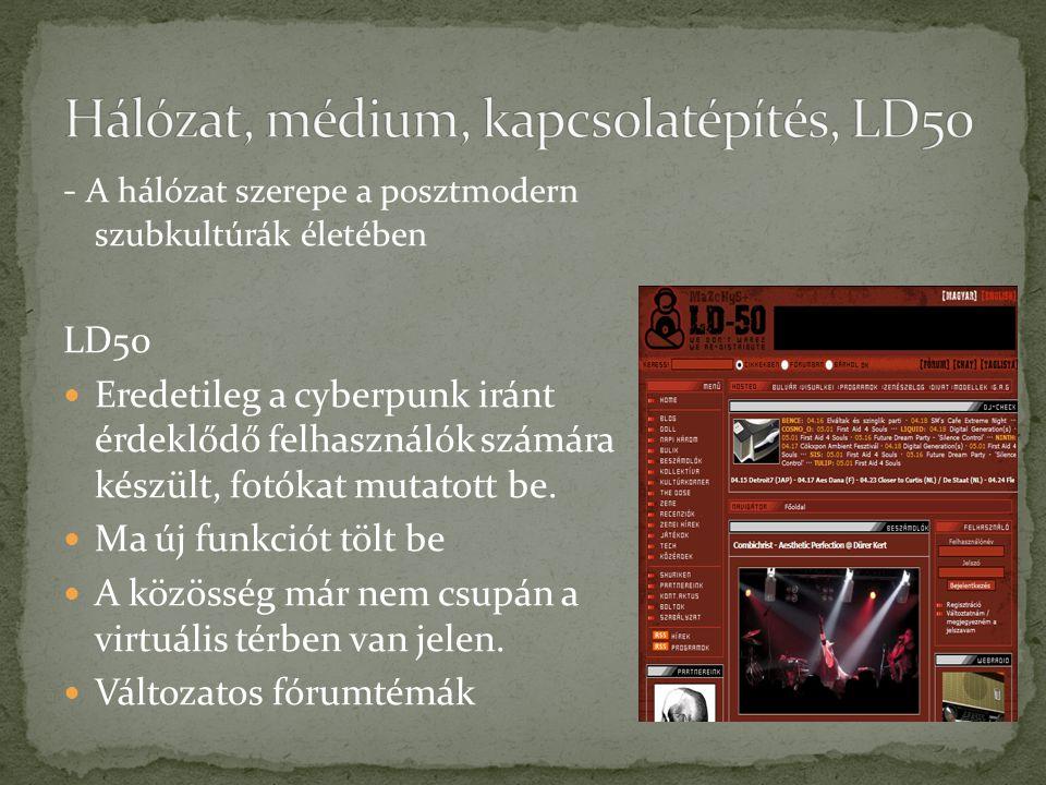 Hálózat, médium, kapcsolatépítés, LD50
