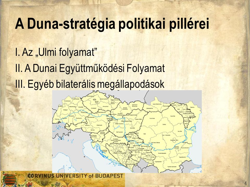 A Duna-stratégia politikai pillérei