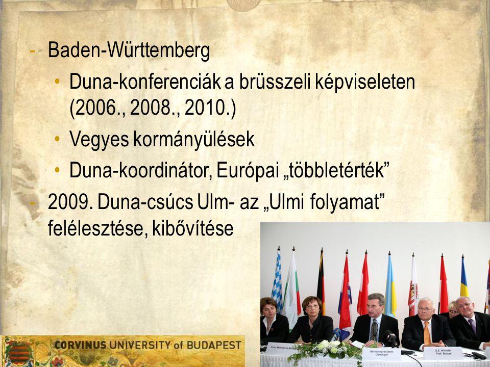 Duna-konferenciák a brüsszeli képviseleten (2006., 2008., 2010.)