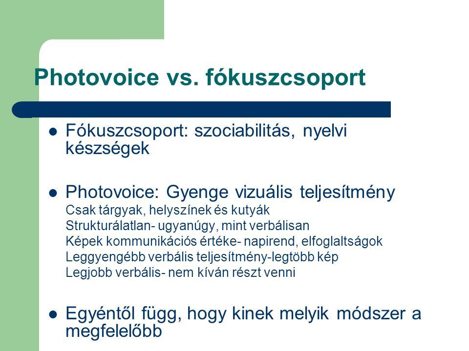 Photovoice vs. fókuszcsoport