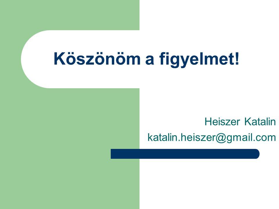 Heiszer Katalin katalin.heiszer@gmail.com