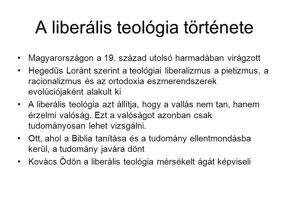A liberális teológia története