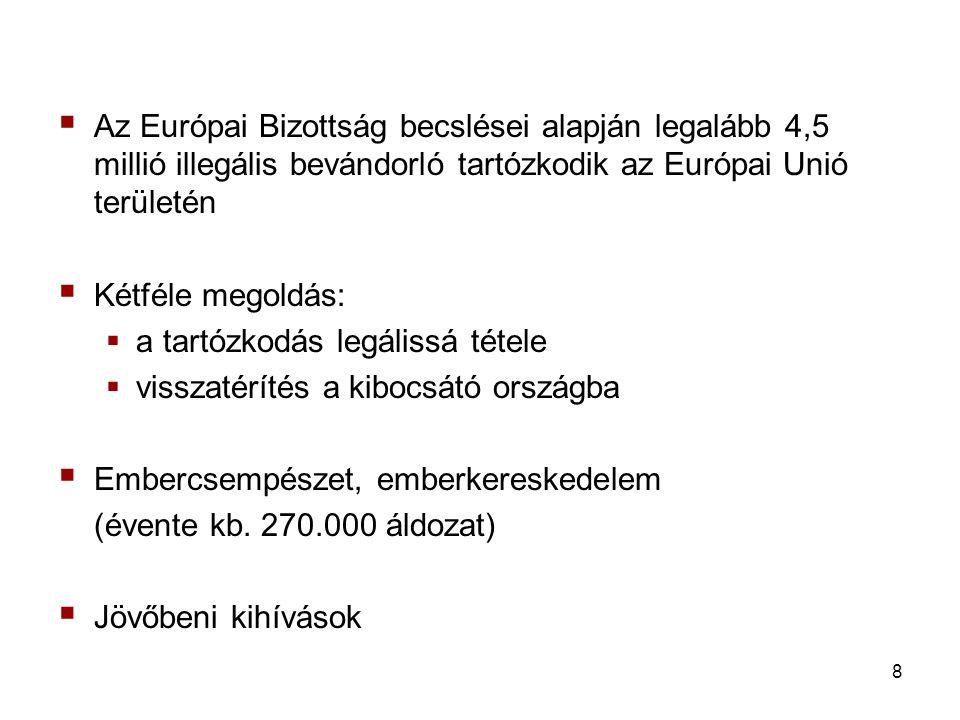 Az Európai Bizottság becslései alapján legalább 4,5 millió illegális bevándorló tartózkodik az Európai Unió területén