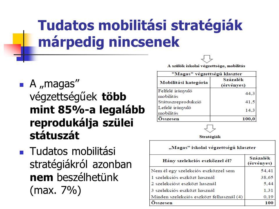 Tudatos mobilitási stratégiák márpedig nincsenek