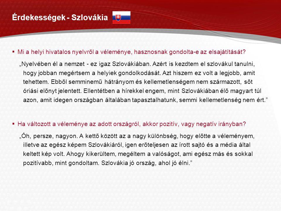 Érdekességek - Szlovákia