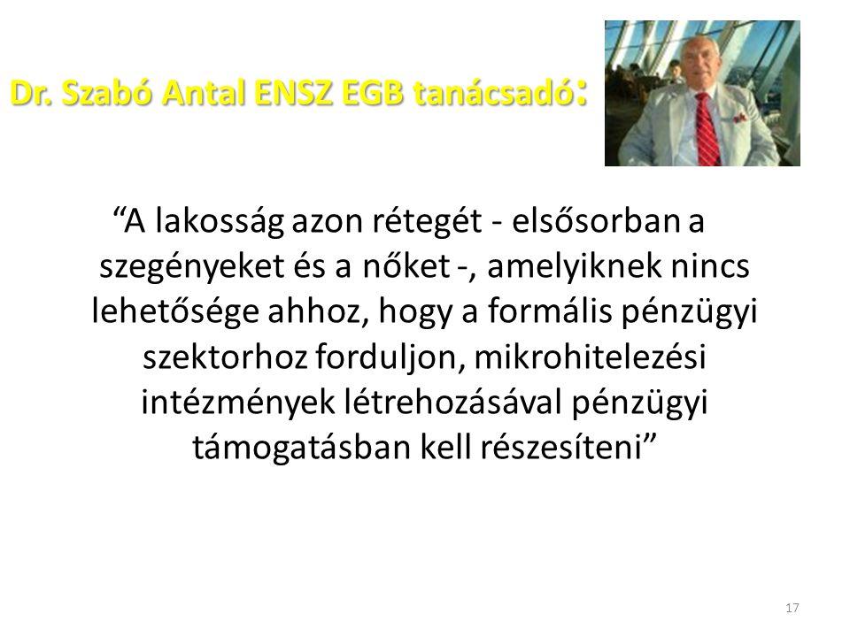 Dr. Szabó Antal ENSZ EGB tanácsadó: