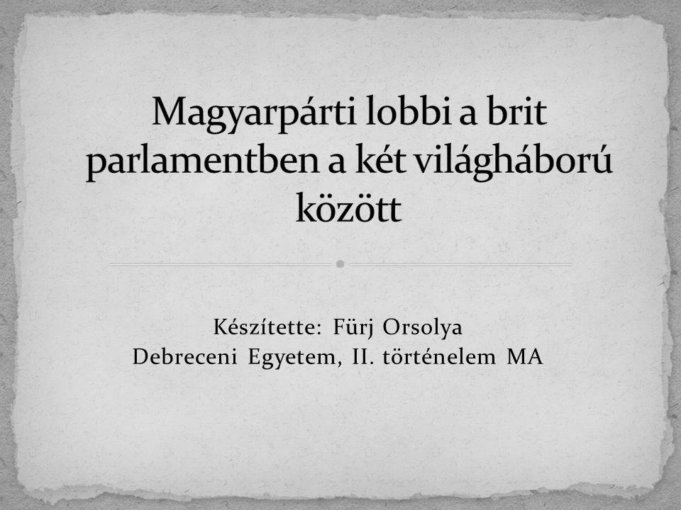 Magyarpárti lobbi a brit parlamentben a két világháború között