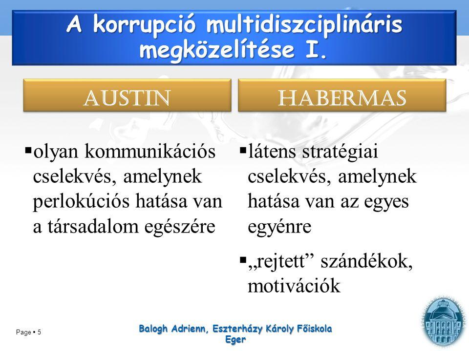 A korrupció multidiszciplináris megközelítése I.