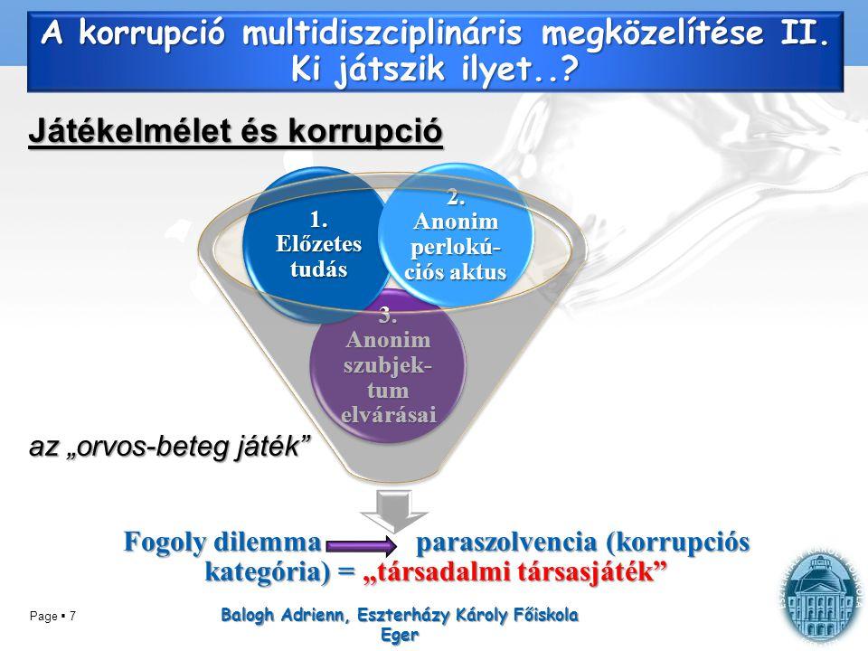 A korrupció multidiszciplináris megközelítése II. Ki játszik ilyet..