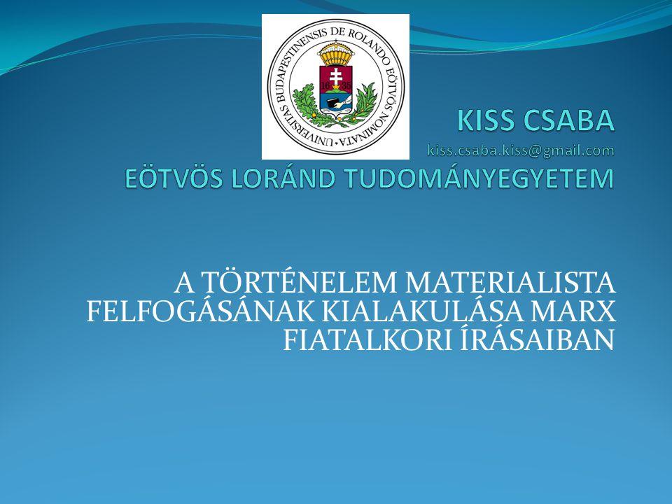 KISS CSABA kiss.csaba.kiss@gmail.com EÖTVÖS LORÁND TUDOMÁNYEGYETEM