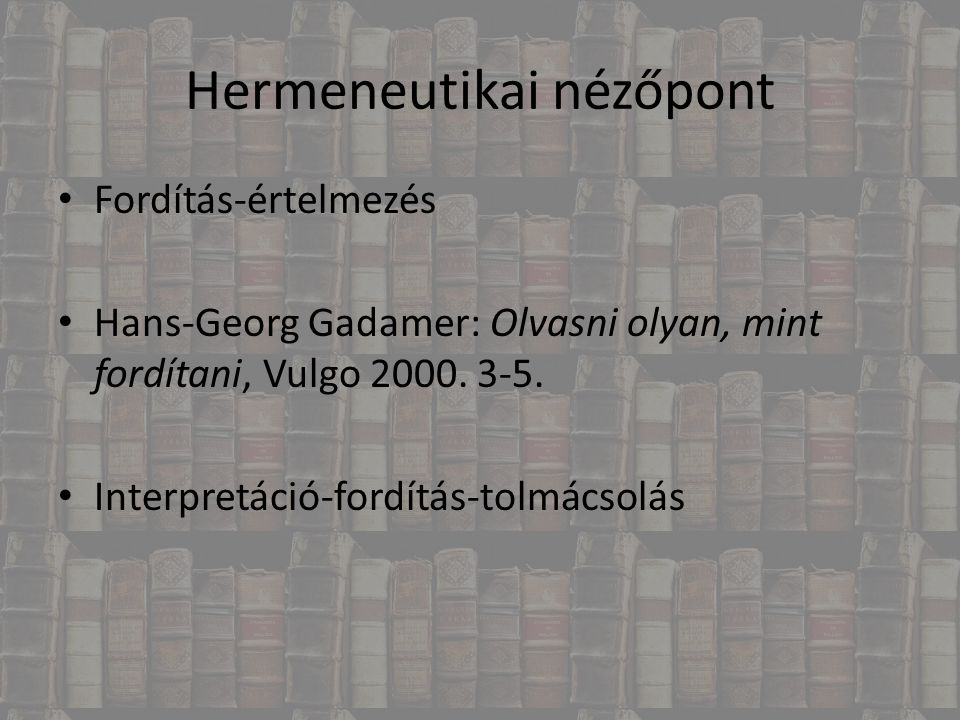 Hermeneutikai nézőpont