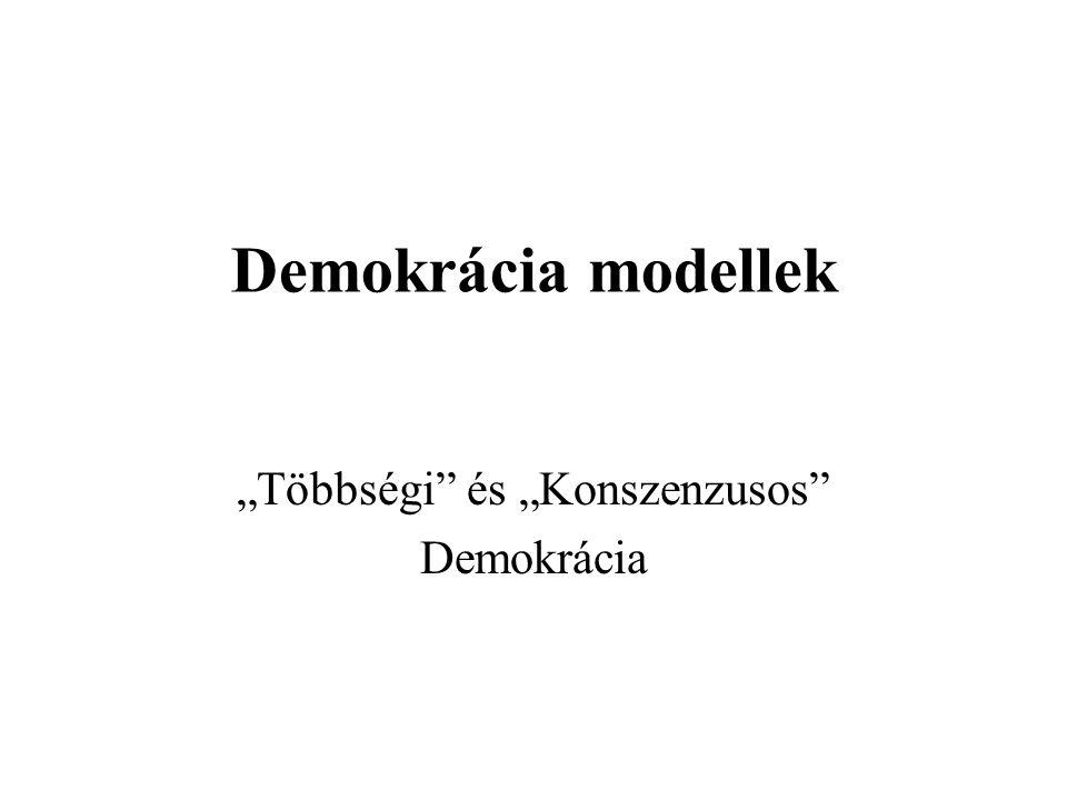 """""""Többségi és """"Konszenzusos Demokrácia"""