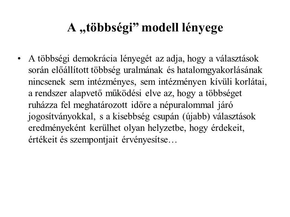 """A """"többségi modell lényege"""