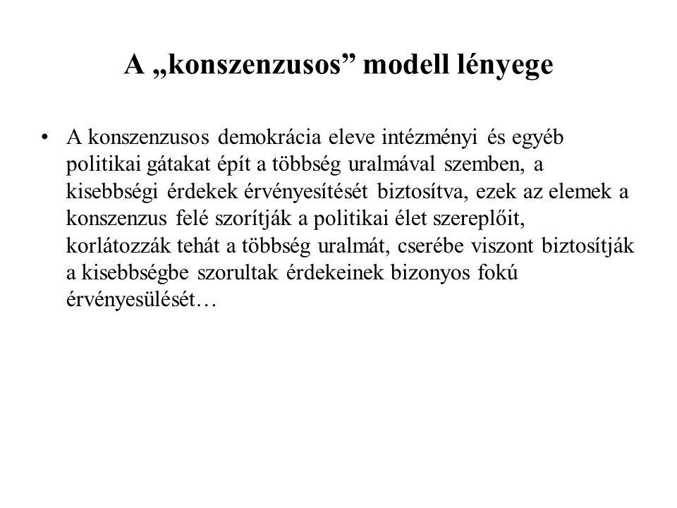 """A """"konszenzusos modell lényege"""