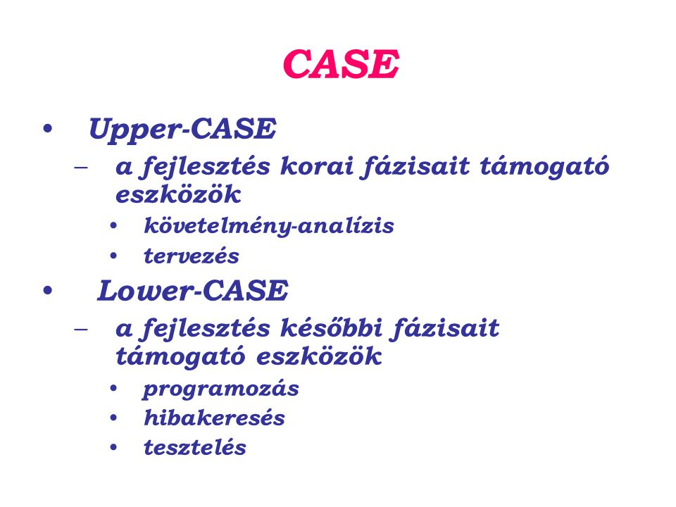 CASE Upper-CASE Lower-CASE