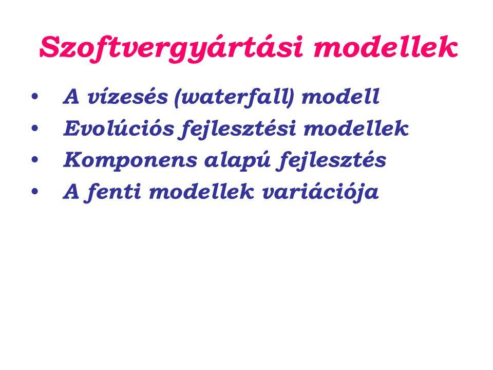 Szoftvergyártási modellek