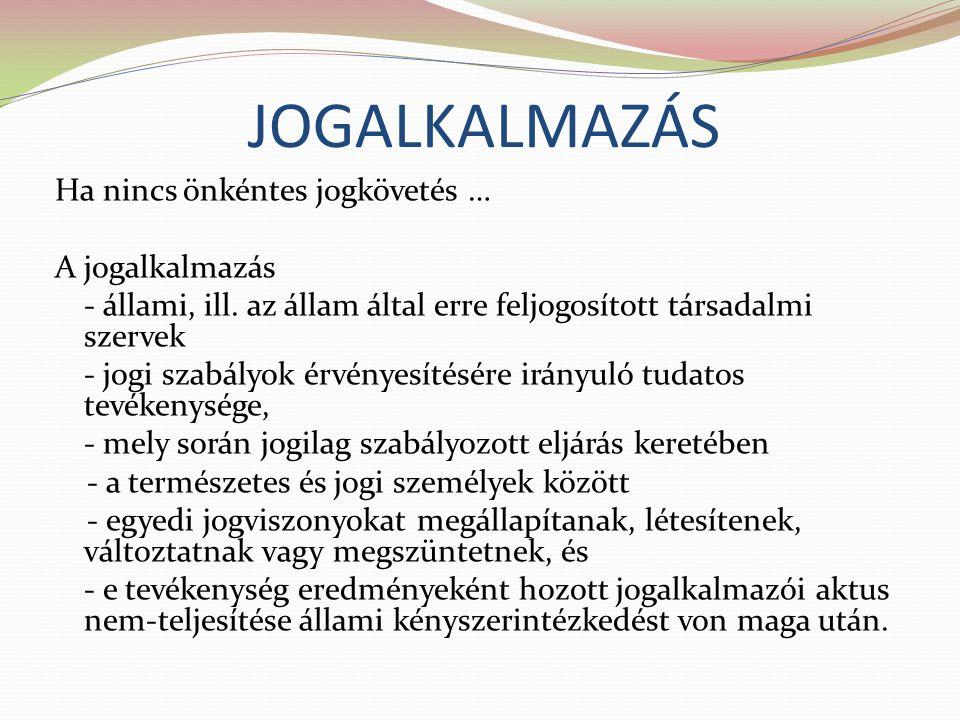 JOGALKALMAZÁS