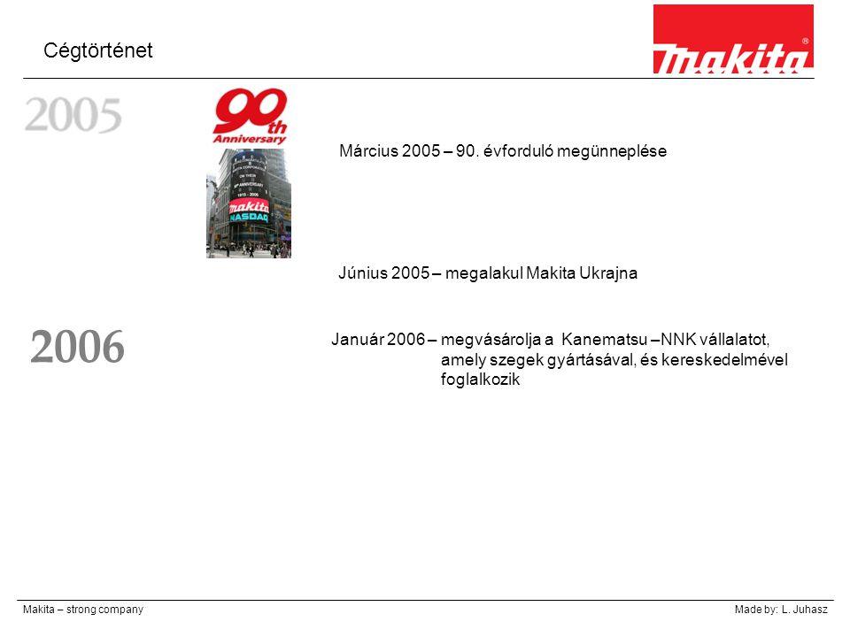 2006 Cégtörténet Március 2005 – 90. évforduló megünneplése