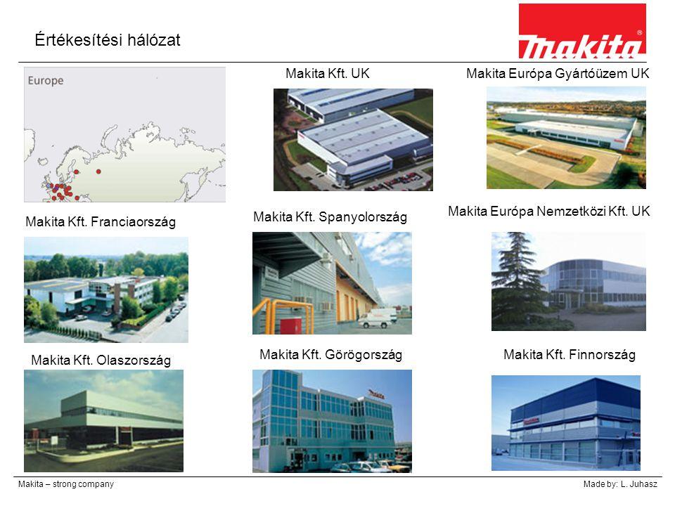 Értékesítési hálózat Makita Kft. UK Makita Európa Gyártóüzem UK