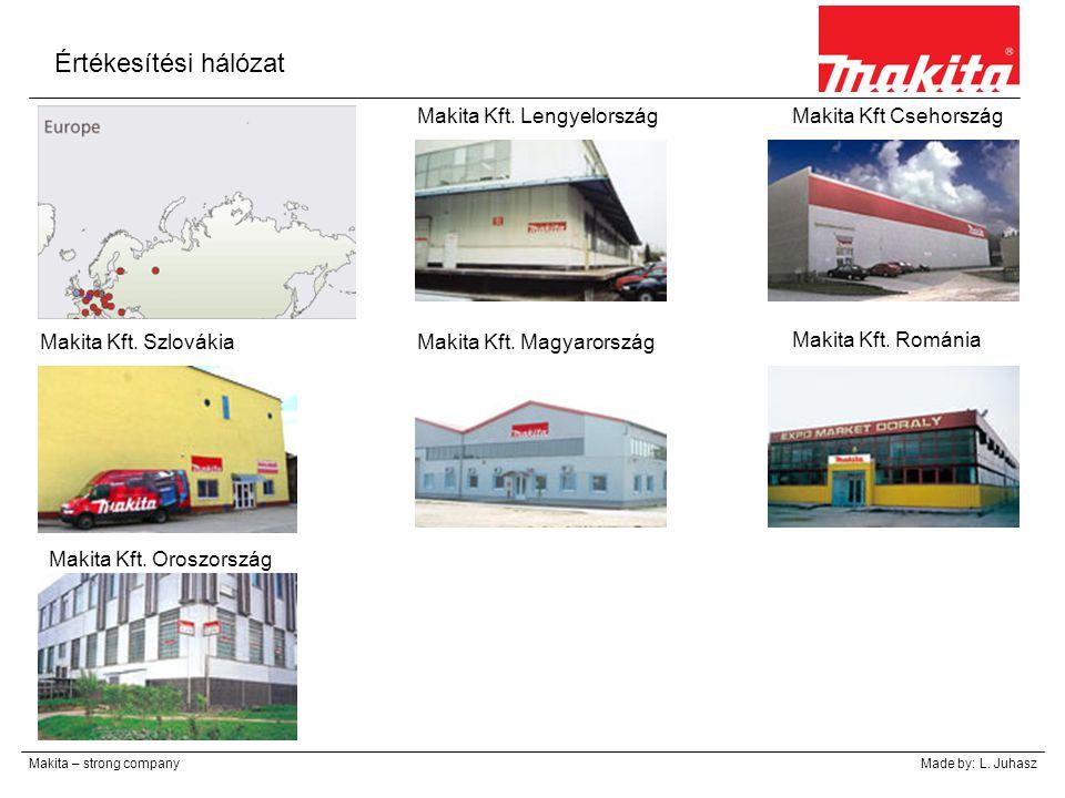 Értékesítési hálózat Makita Kft. Lengyelország Makita Kft Csehország
