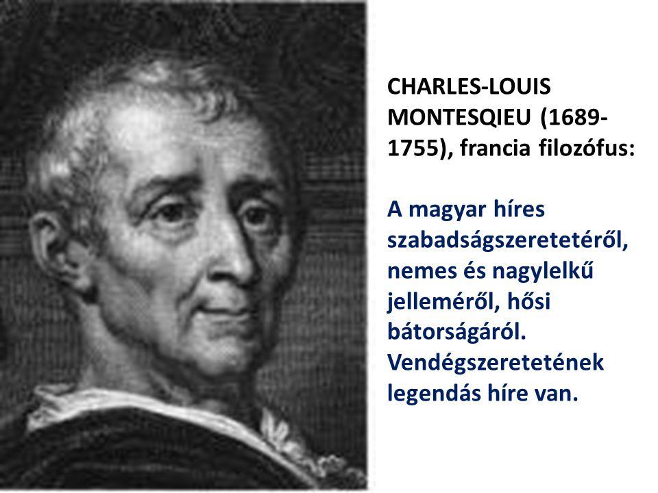 CHARLES-LOUIS MONTESQIEU (1689-1755), francia filozófus: