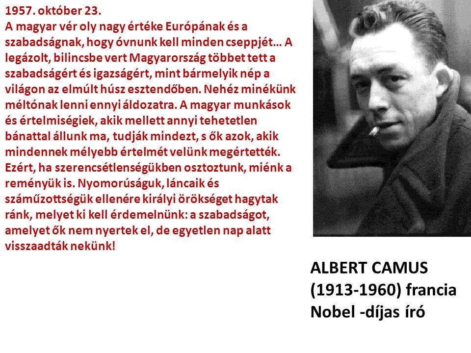 ALBERT CAMUS (1913-1960) francia Nobel -díjas író