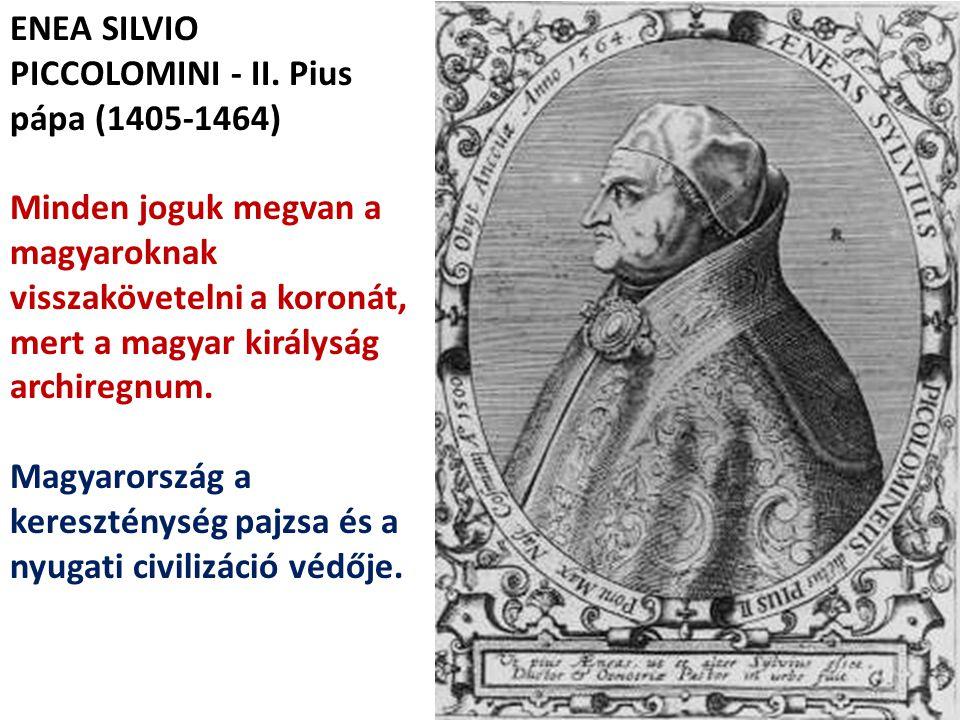 ENEA SILVIO PICCOLOMINI - II. Pius pápa (1405-1464)
