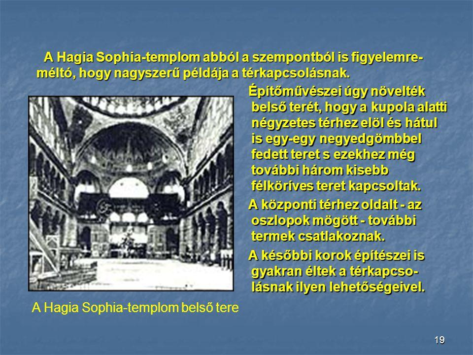 A Hagia Sophia-templom belső tere