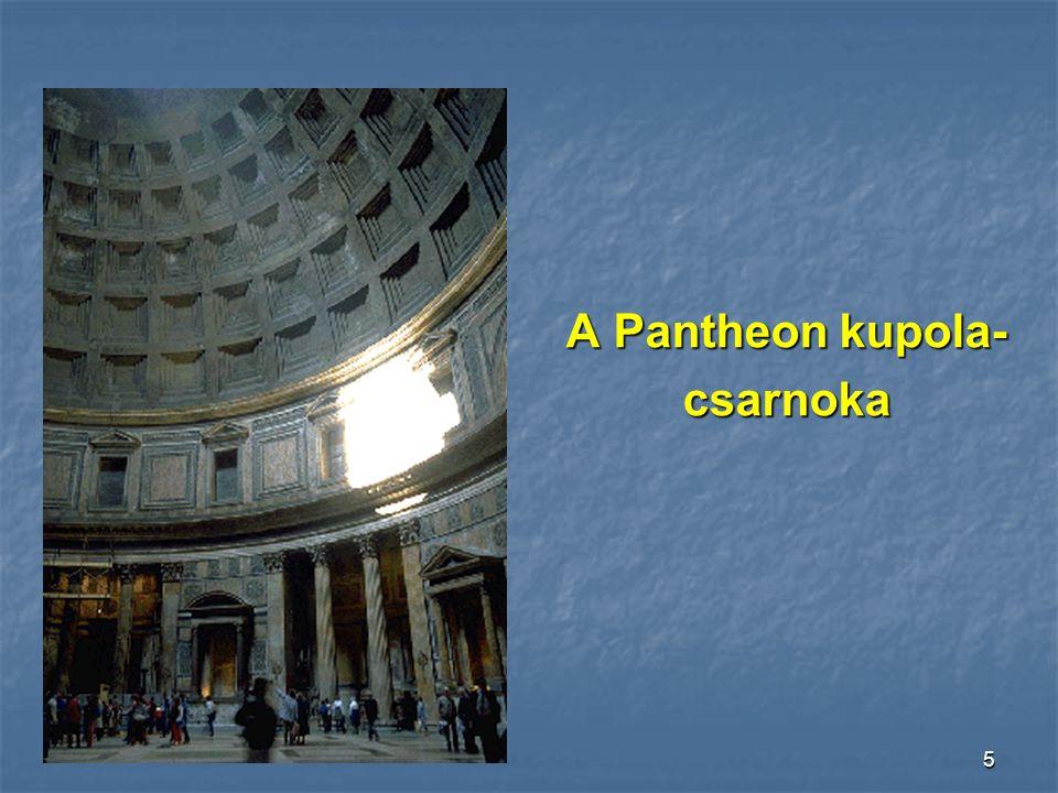 A Pantheon kupola- csarnoka
