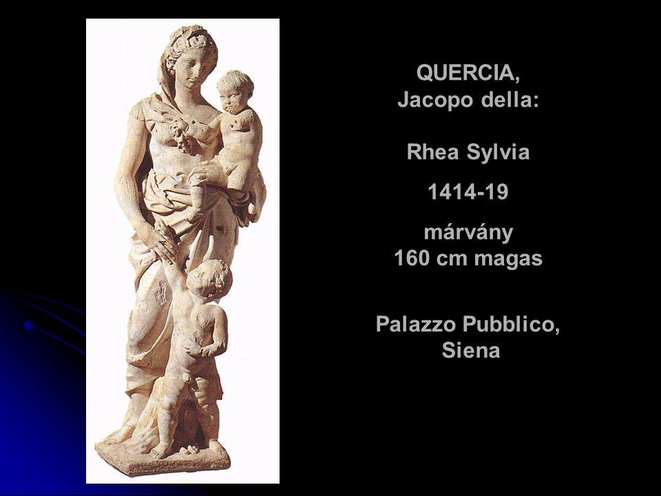 QUERCIA, Jacopo della: Rhea Sylvia Palazzo Pubblico, Siena