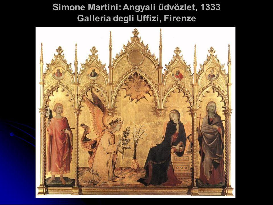 Simone Martini: Angyali üdvözlet, 1333 Galleria degli Uffizi, Firenze