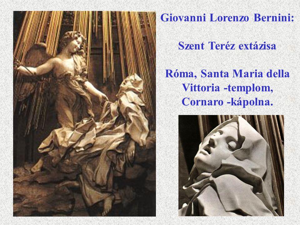 Giovanni Lorenzo Bernini: Szent Teréz extázisa Róma, Santa Maria della Vittoria -templom, Cornaro -kápolna.
