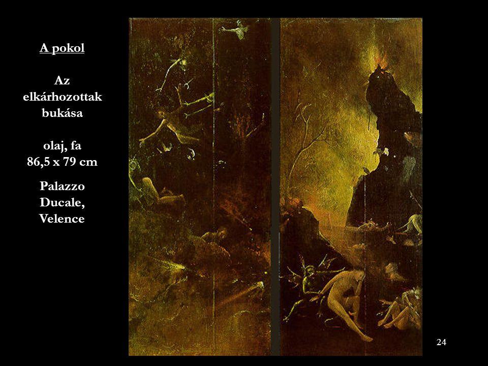 A pokol Az elkárhozottak bukása olaj, fa 86,5 x 79 cm