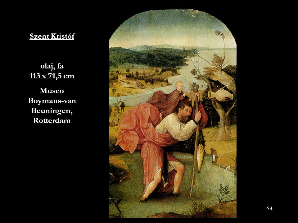 Szent Kristóf olaj, fa 113 x 71,5 cm