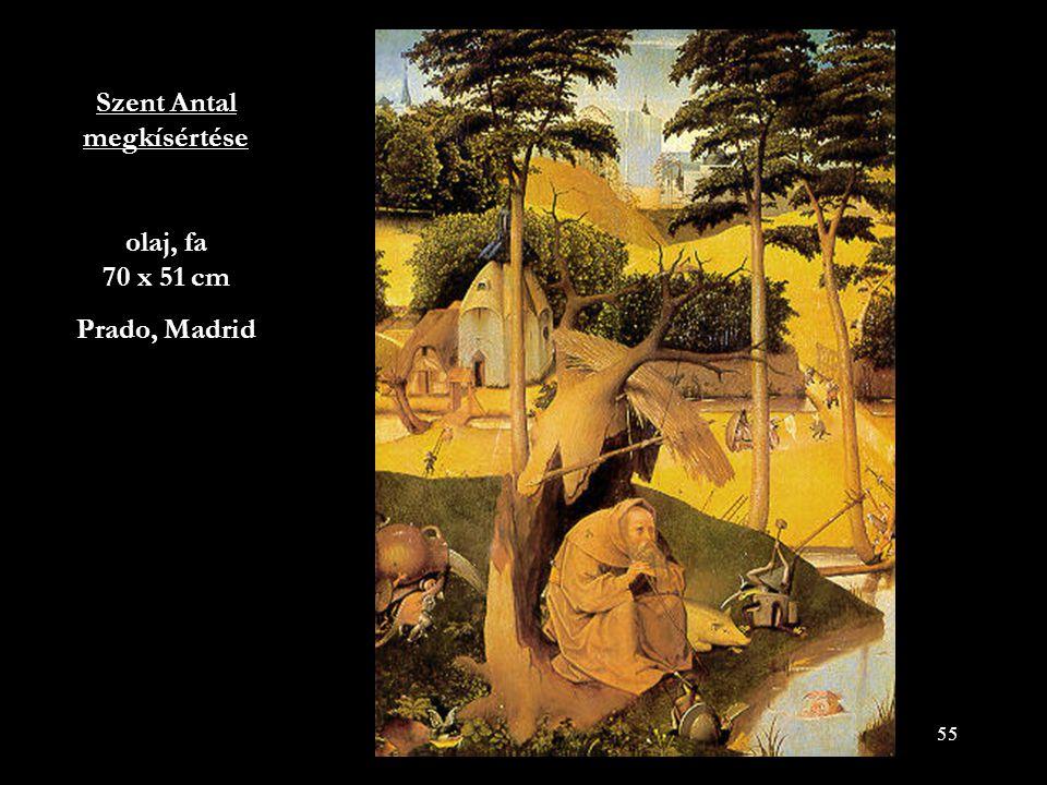 Szent Antal megkísértése olaj, fa 70 x 51 cm