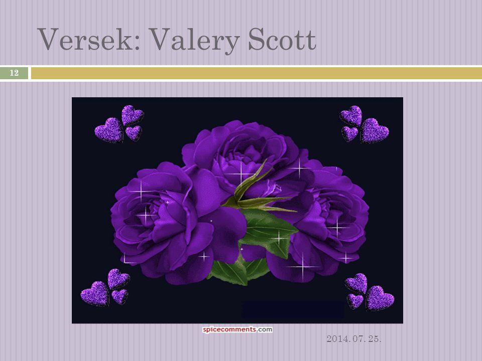 Versek: Valery Scott 2017.04.04.