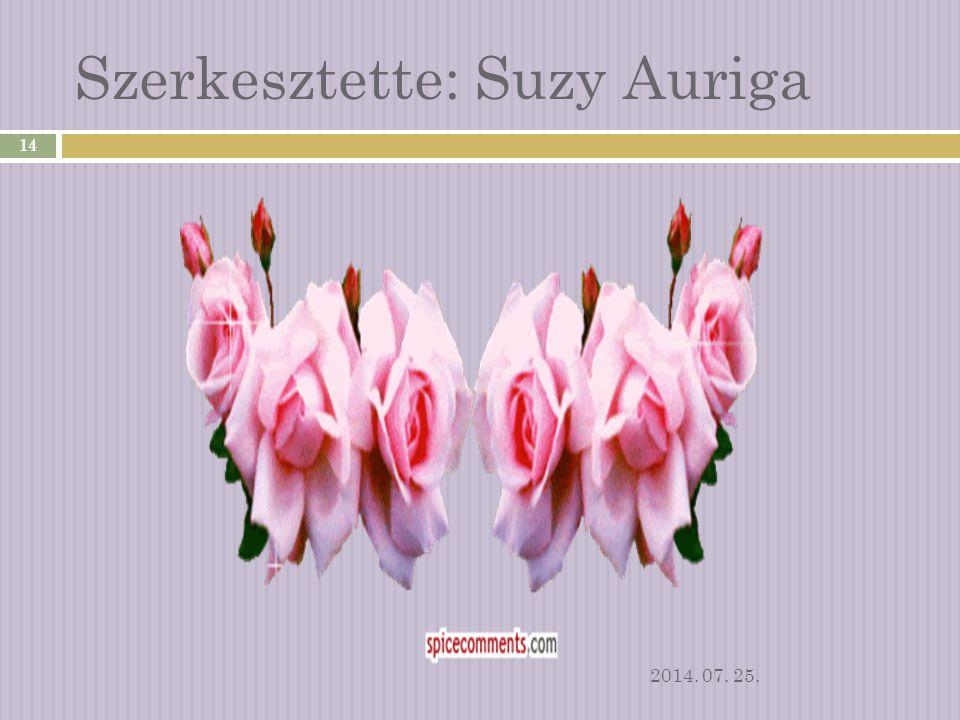 Szerkesztette: Suzy Auriga