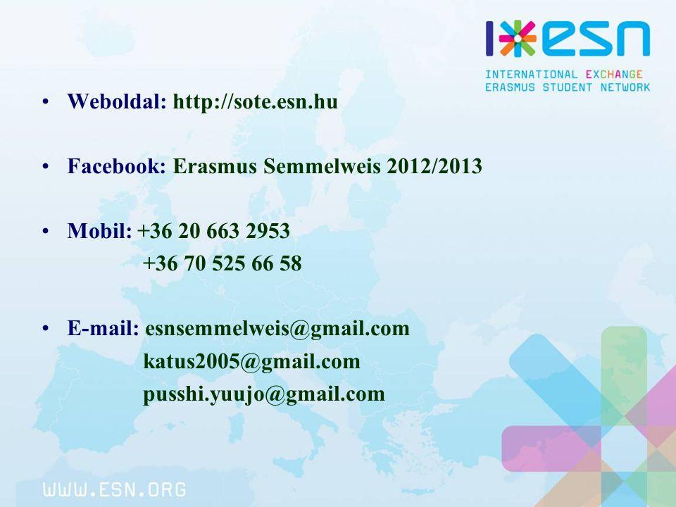 Weboldal: http://sote.esn.hu